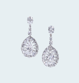 Diamond Bridal Earrings